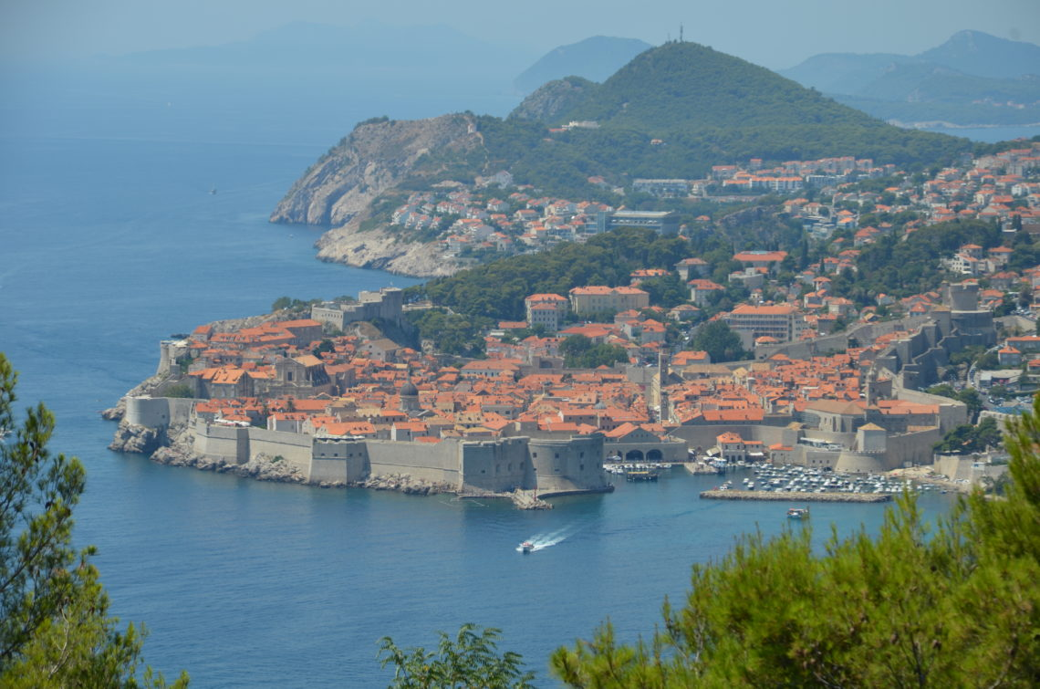 To show the view on Dubrovnik from afar. day in Dubrovnik
