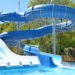 To show how the swimming pool looks, this the part with two slides and part of the swimming pool.