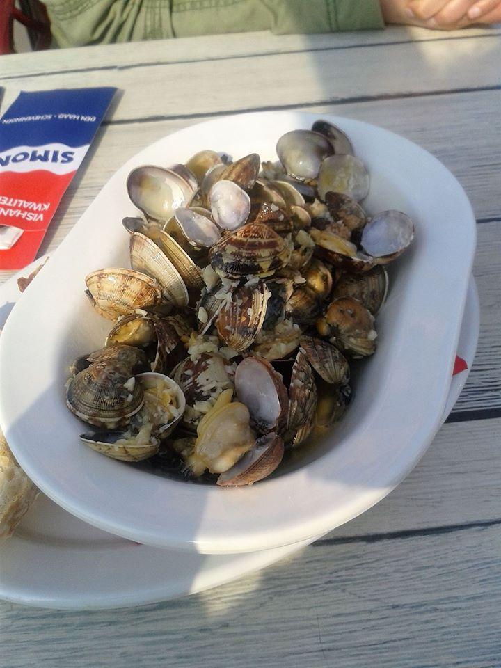 to show one fish dish: vingoles. Eat in Scheveningen