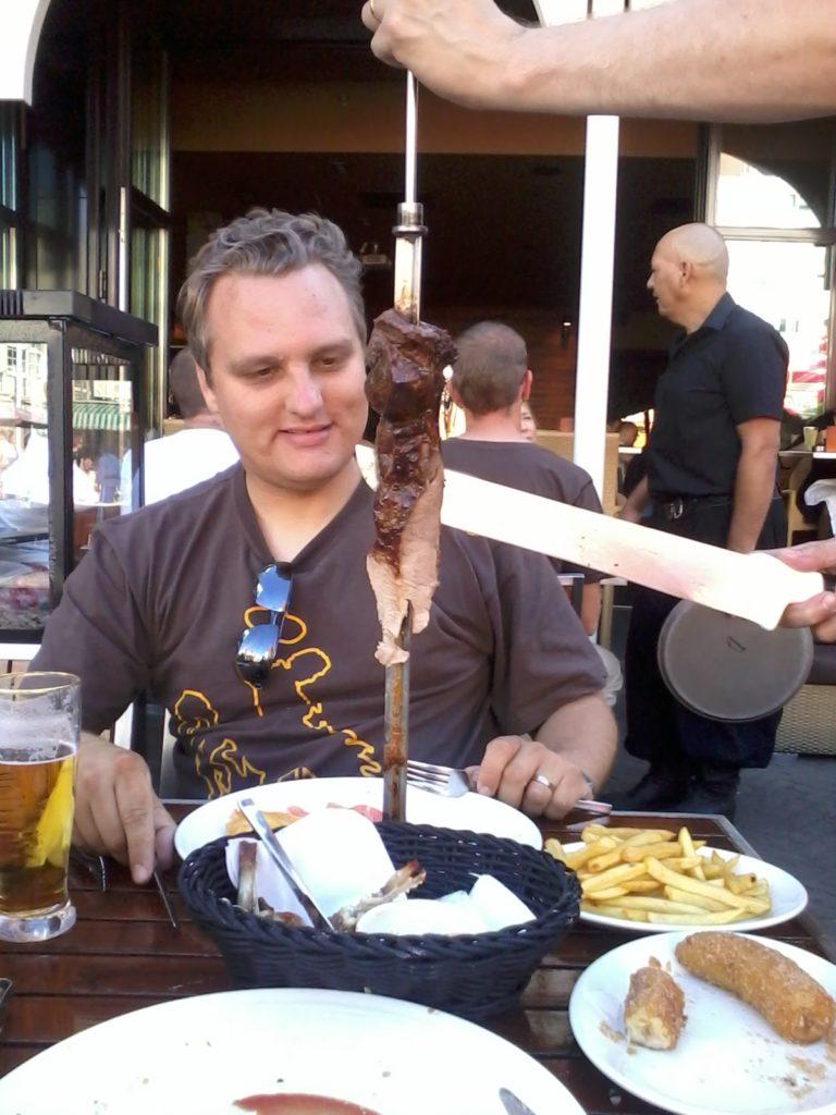 To show how it works at Rodizio. Eat in Scheveningen