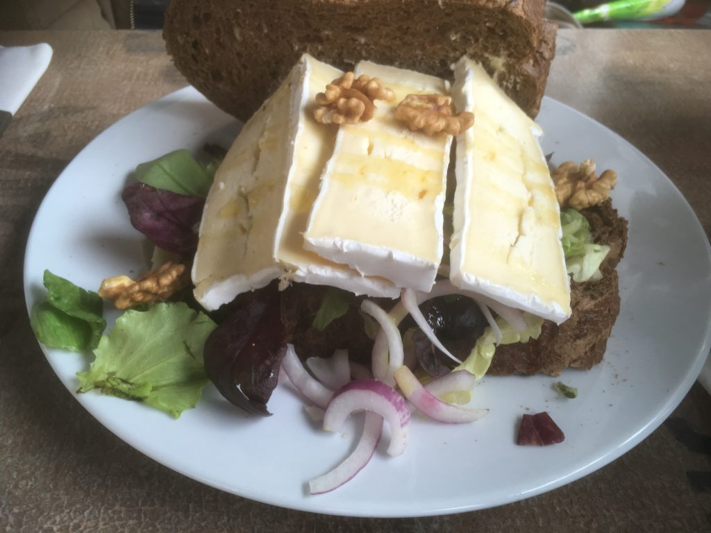 To show one of the sandwiches from Brasserie Top: Brie sandwich