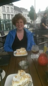 To show me having gooseberry cake