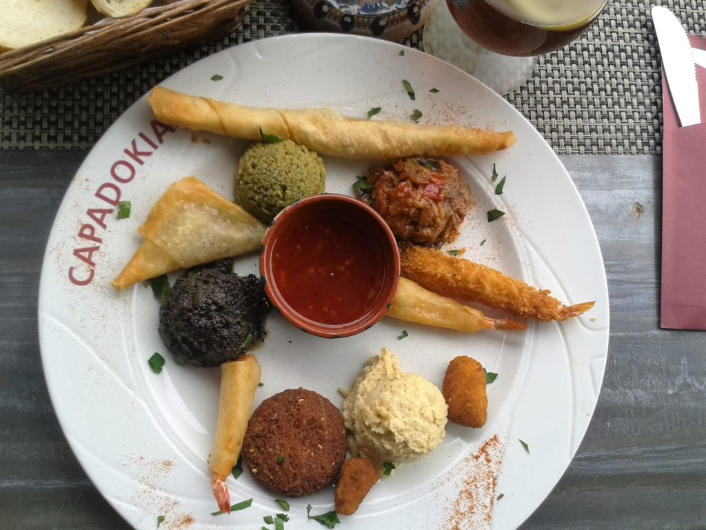 To show the turkish fingerfood we had at Capadokia. Eat in Maastricht