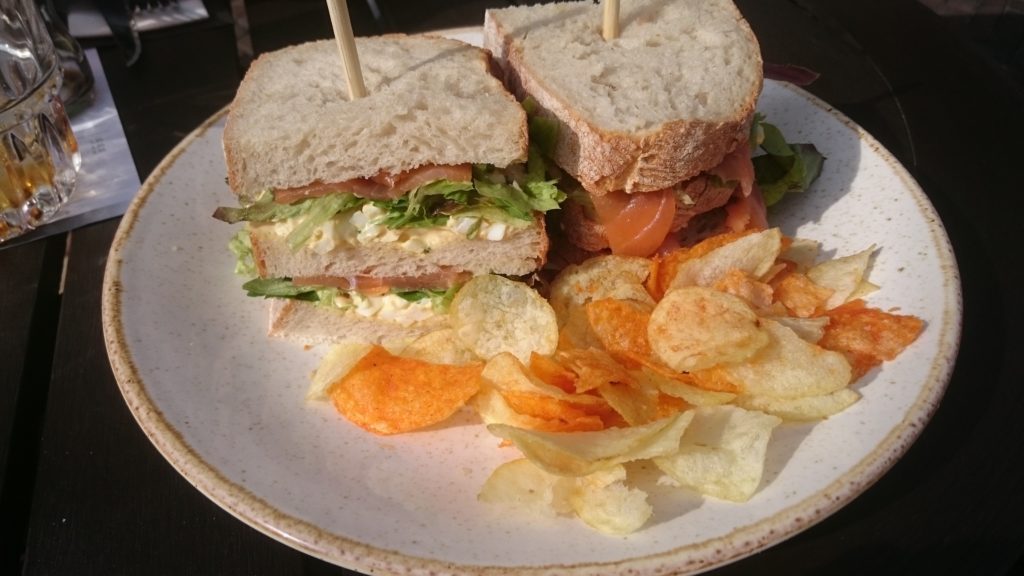 To show the club sandwich from PK. Eat in Utrecht