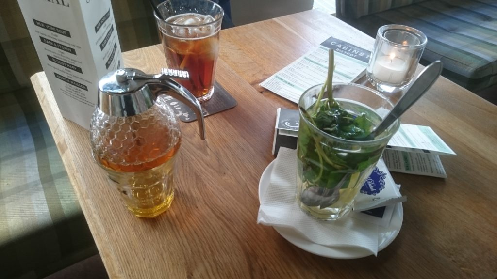To show the Mint tea and ice tea we had at Wycker cabinet. Eat in Maastricht