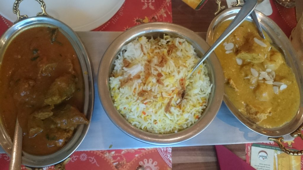 To show our Chicken Kashmiri and Lamb Roghan Josh