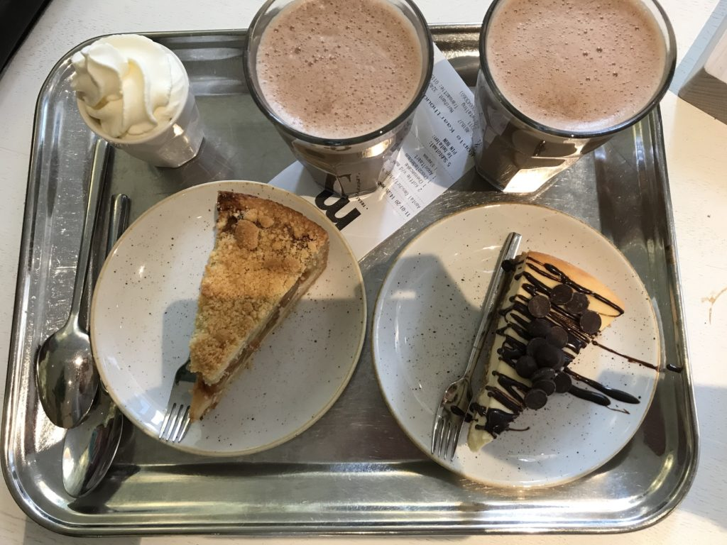 To show what we had at Mockamore: Midnight Chai, applepie and New York cheesecake