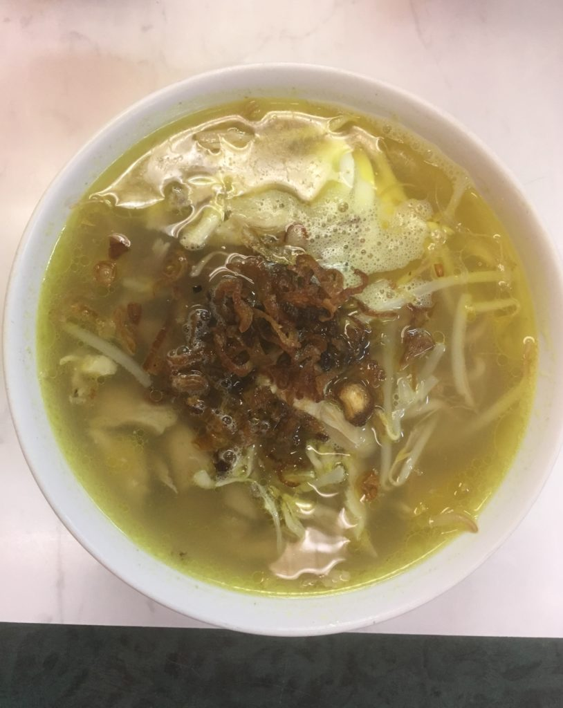 To show a dish from Kolintang, in this case a soup.