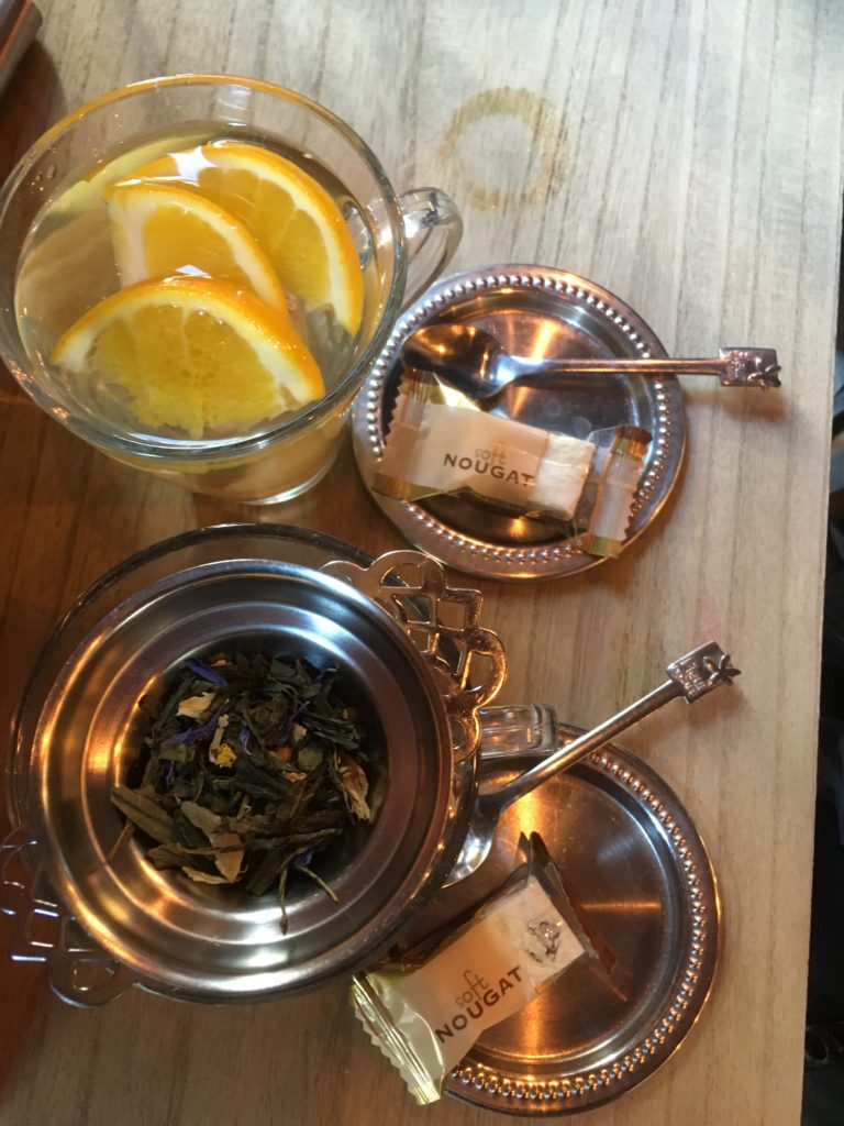 To show the tea we had at Lewis Book Cafe. Coffee places in Europe