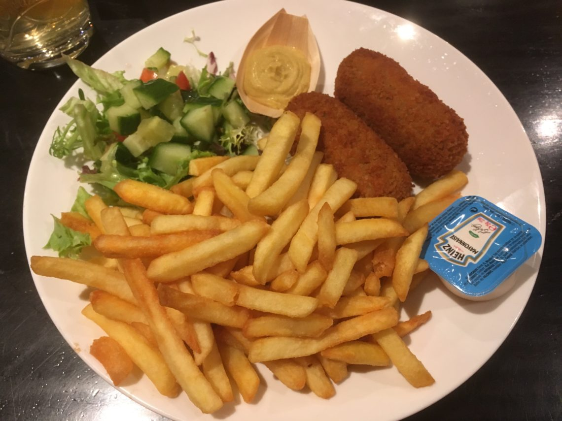 To show 'Kroketten' with fries
