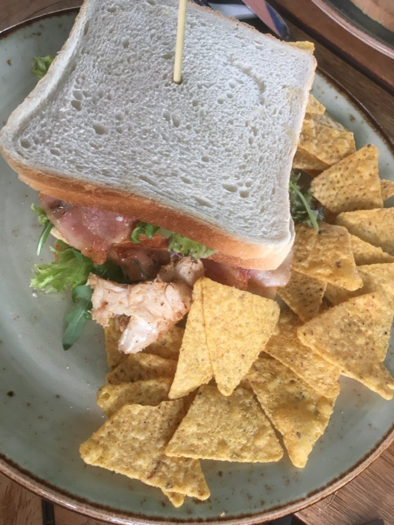 To show the club sandwich I had for lunch