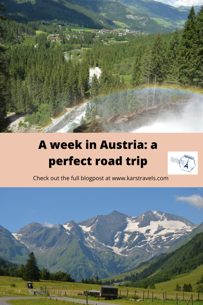 Pinterest Pin with 2 photos of Austria on it