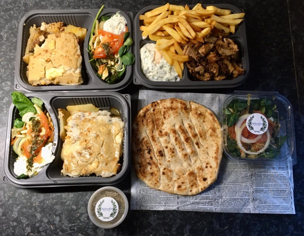 To show the moussaka and gyros from Aphrodite. Eat in Utrecht