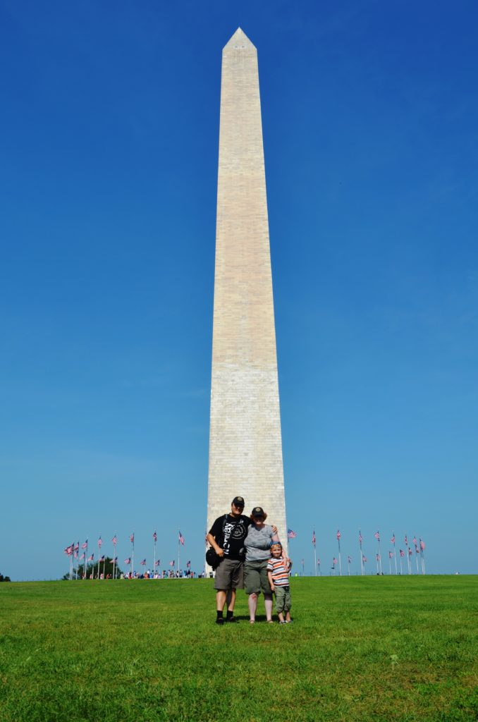 Us in front of the Washington Monument in Washington DC