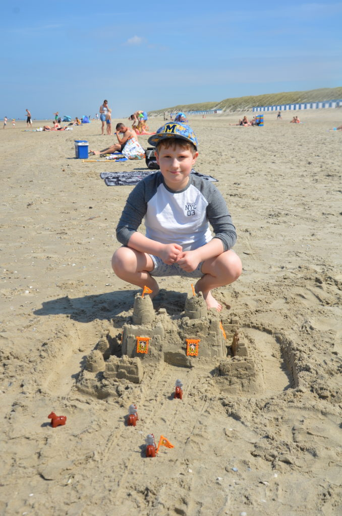 The sandcastle we build. Vacation close to home