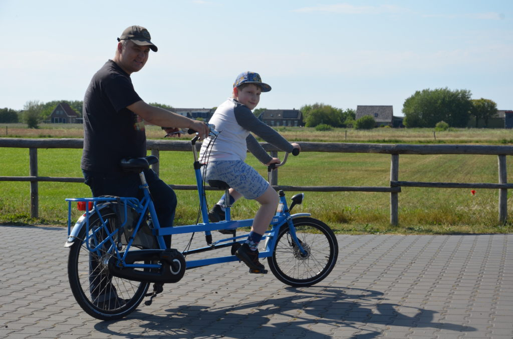 Paul and Yuri on the tandem. Vacation close to home