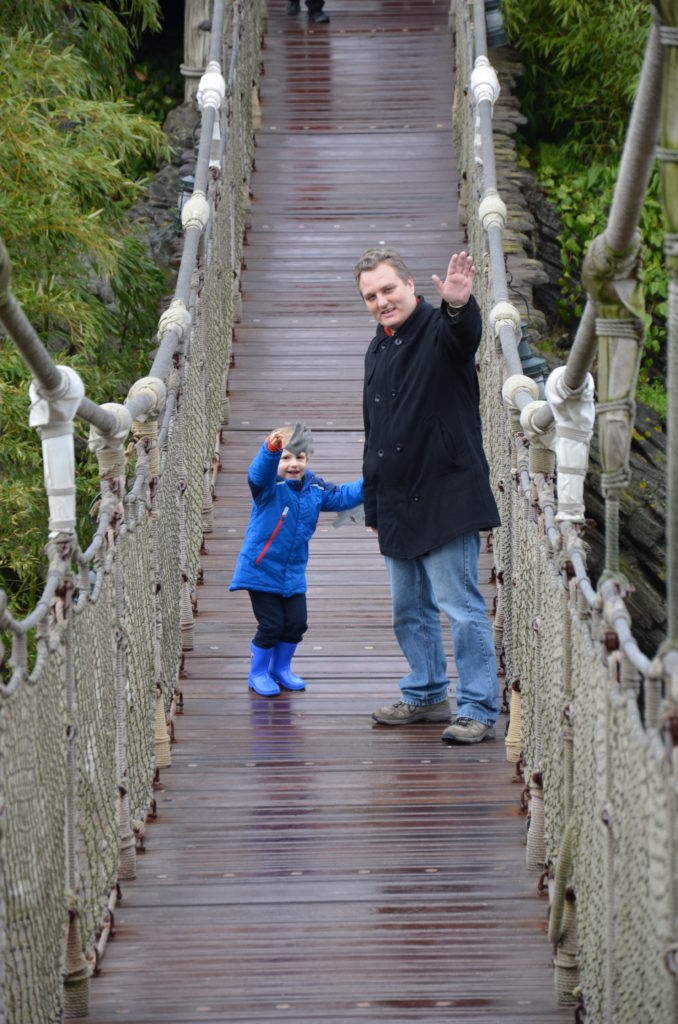 Paul and Yuri at a bridge at Disneyland Paris