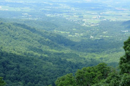 A view on the Shenandoah Valley from one of the lookouts. Shenandoah National Park