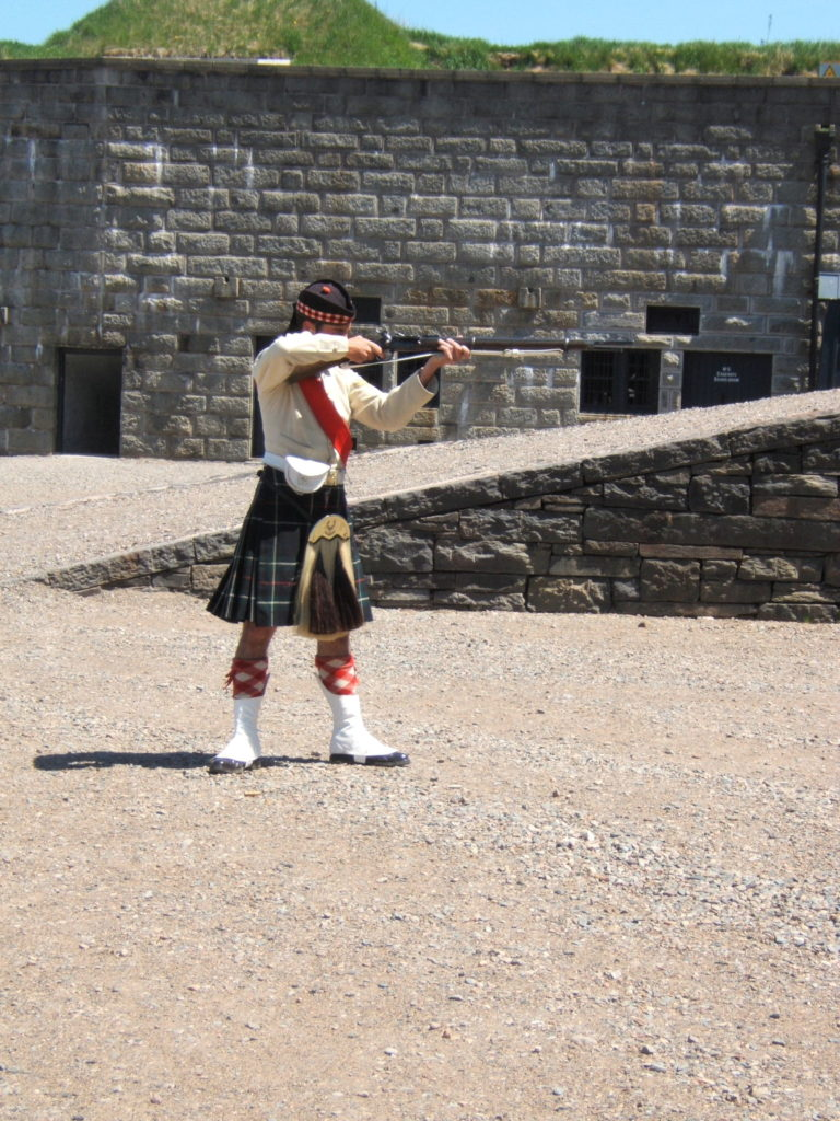 Noon shooting at Halifax Citadel. A thing to watch at this particular forts in the world.