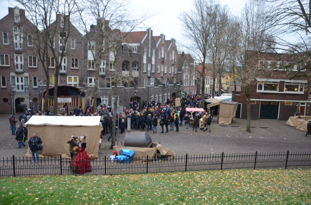 The crowds at the Dickens Festival