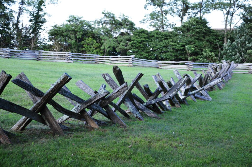 One of the rail fences