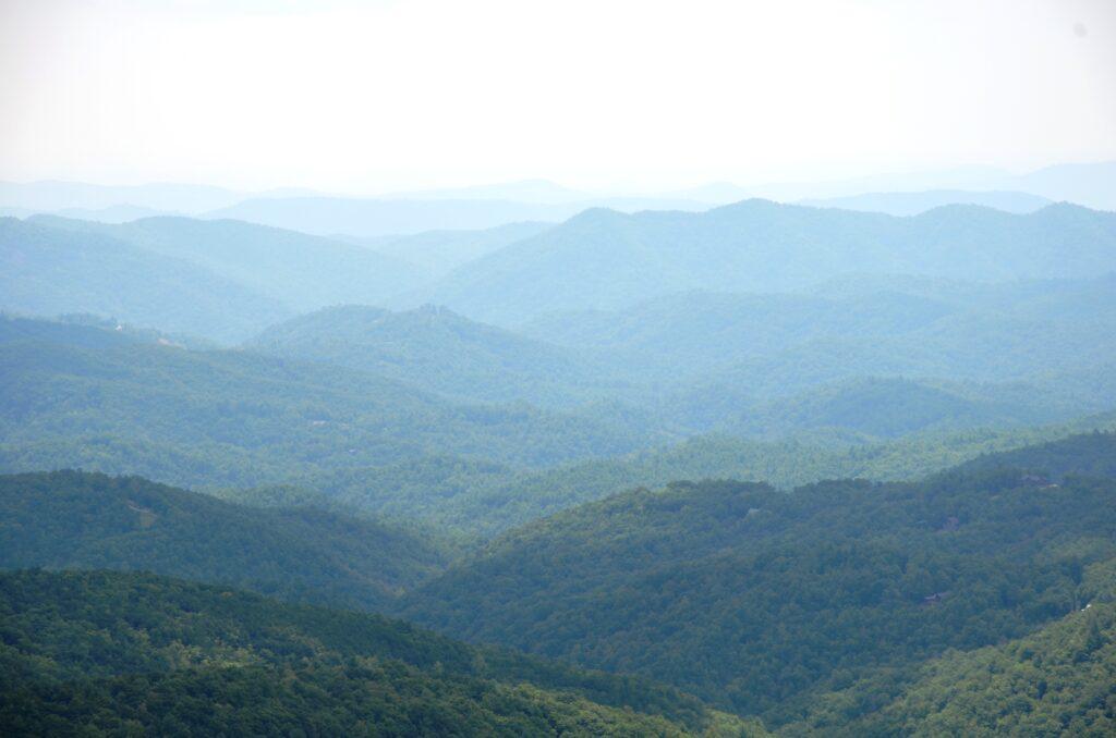 The endles Blue Ridge Mountains
