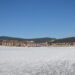 Lipno nad Vltavou, the Landal park and the frozen lake