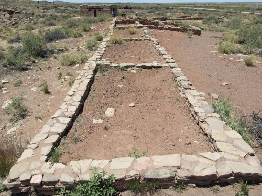 Puerco Pueblo, the foundation is still visible