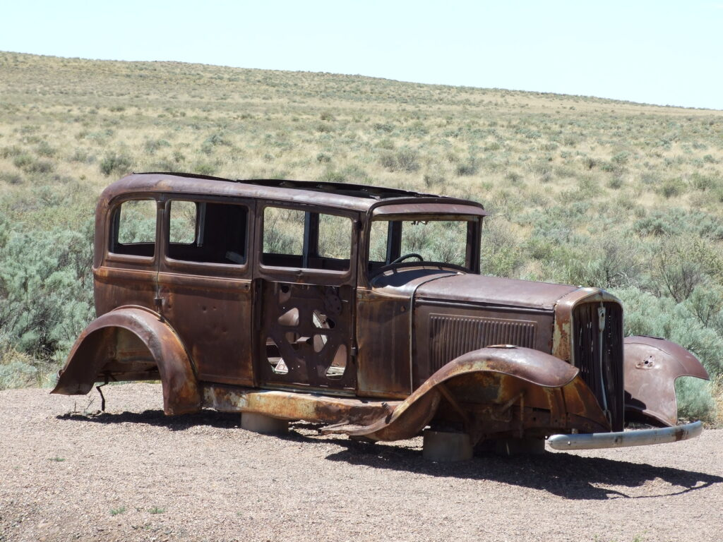 An old car at Route 66