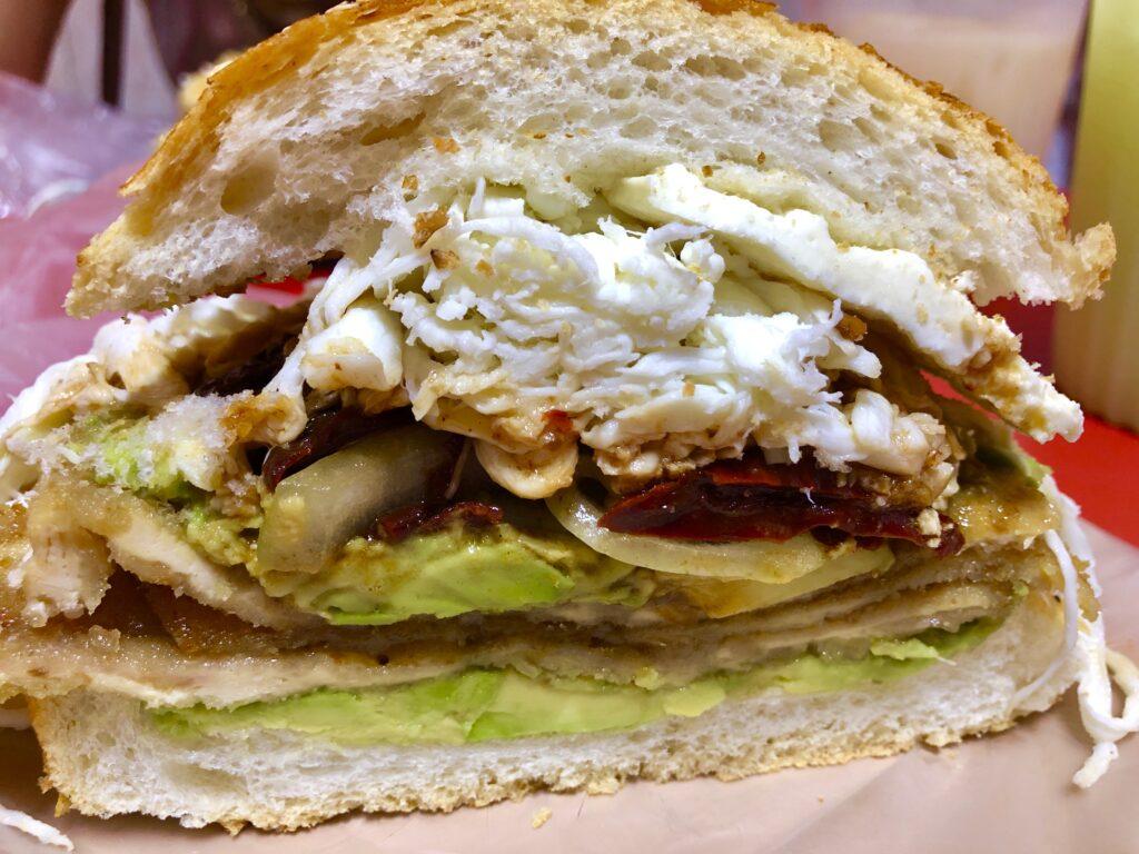 Cemita Torta. A huge sandwich