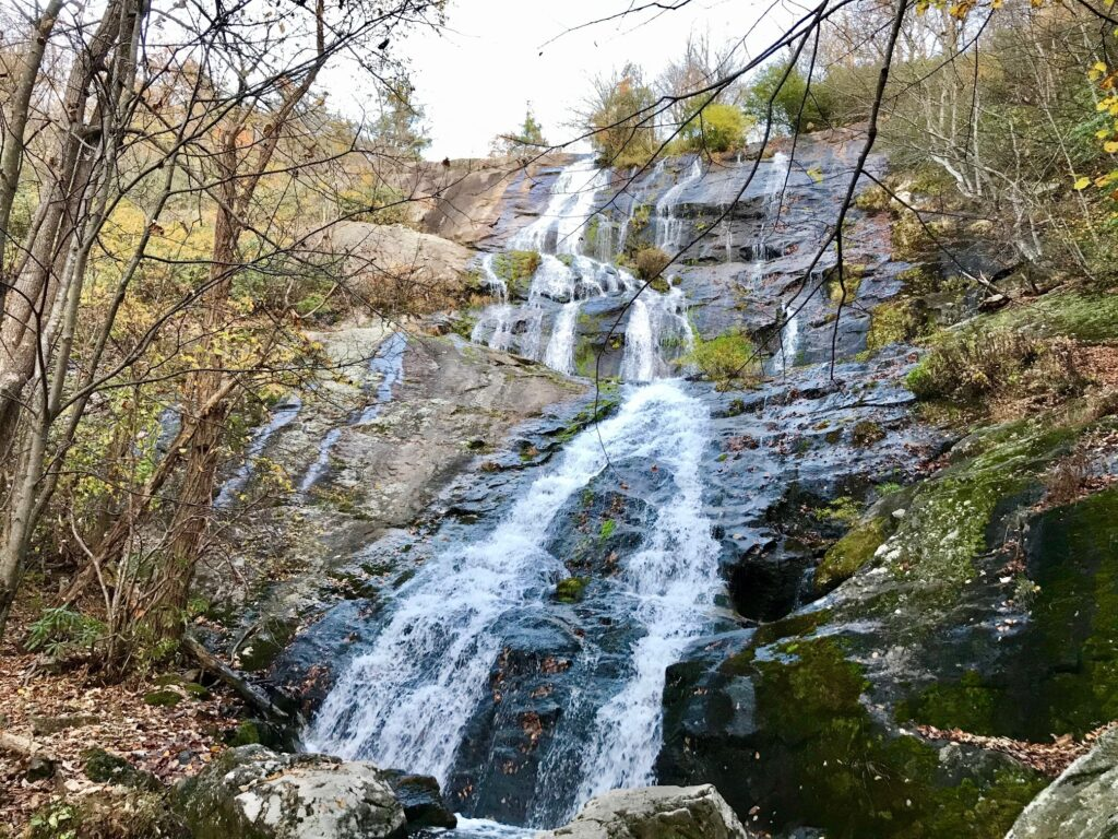 Crabtree Falls, cascading/flowing down the rocks