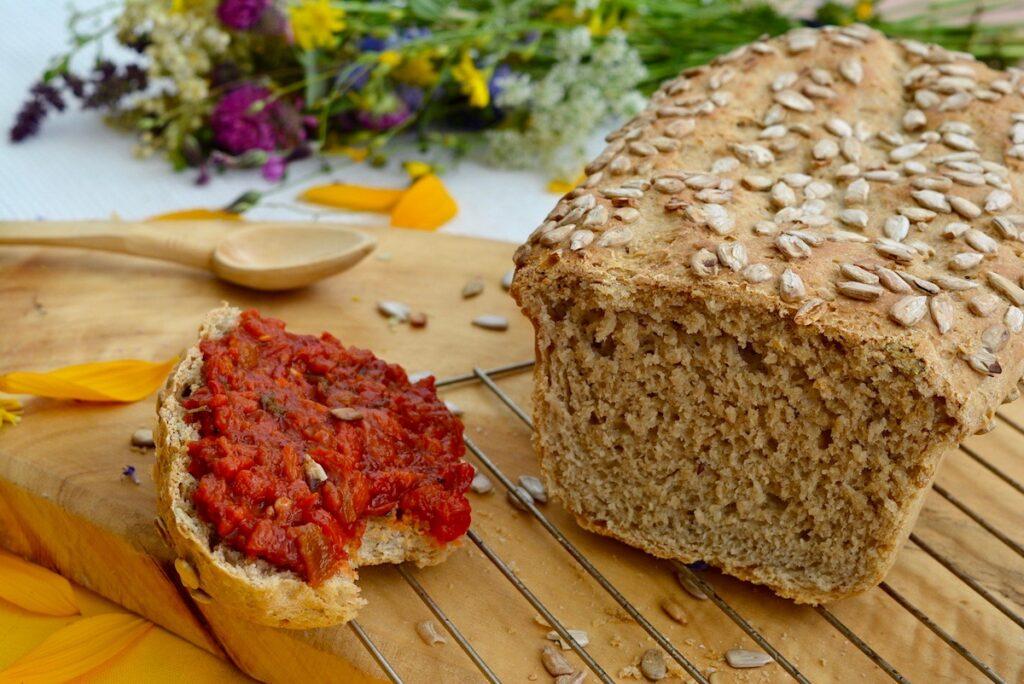 Toast with Lutenitsa