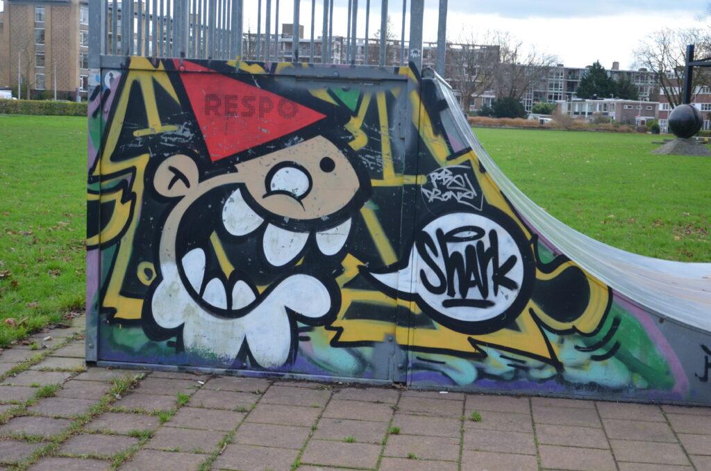 KBTR on the side of a skate track