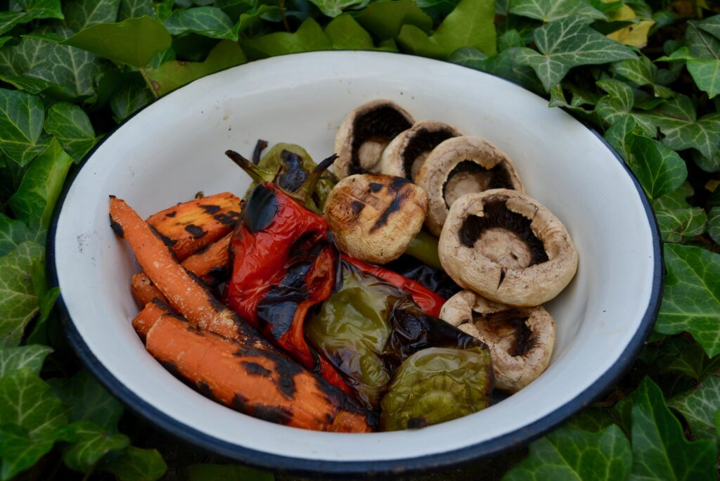 Roasted veggies, in a bowl