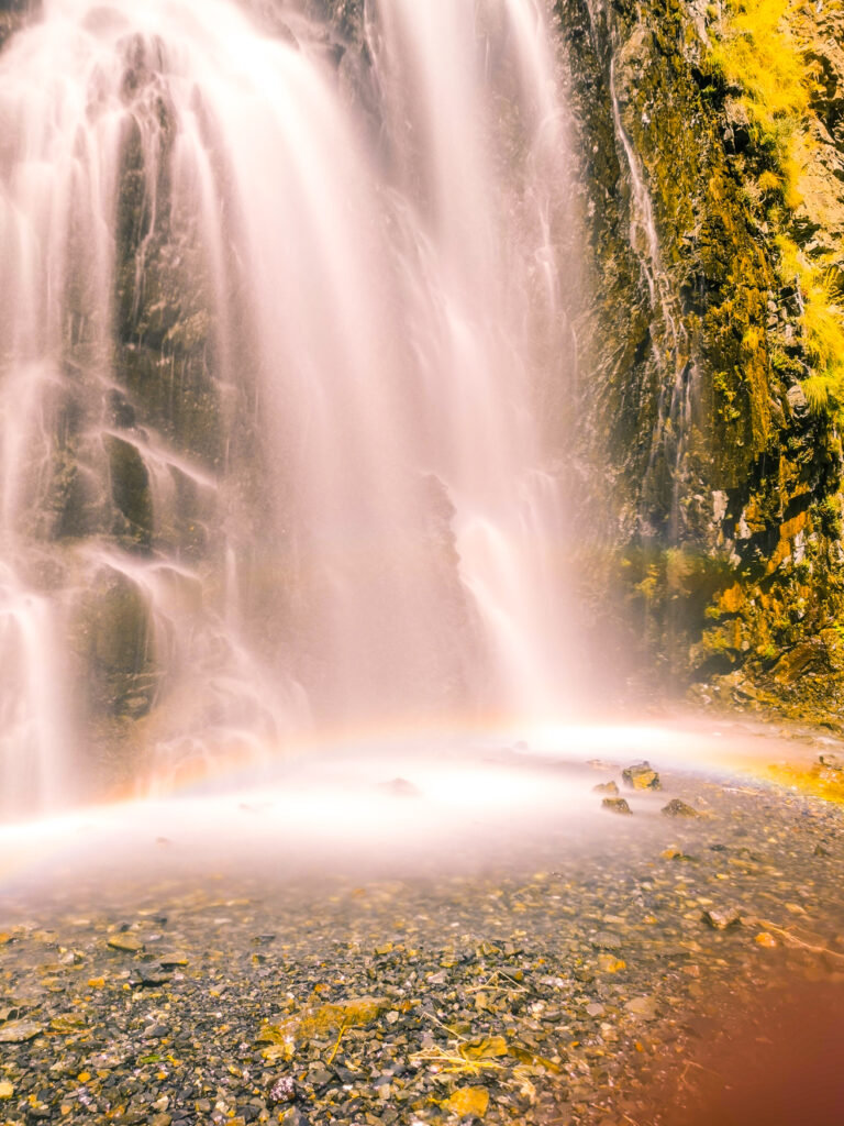 Manthoka Waterfall the lower part of the fall, the wider part, taking up most of the picture