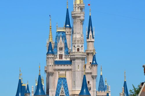 Cinderella castle at the end of main street usa