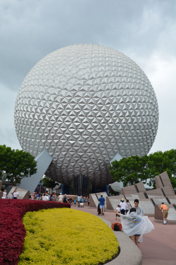 Epcot, the ball at the beginning of Epcot