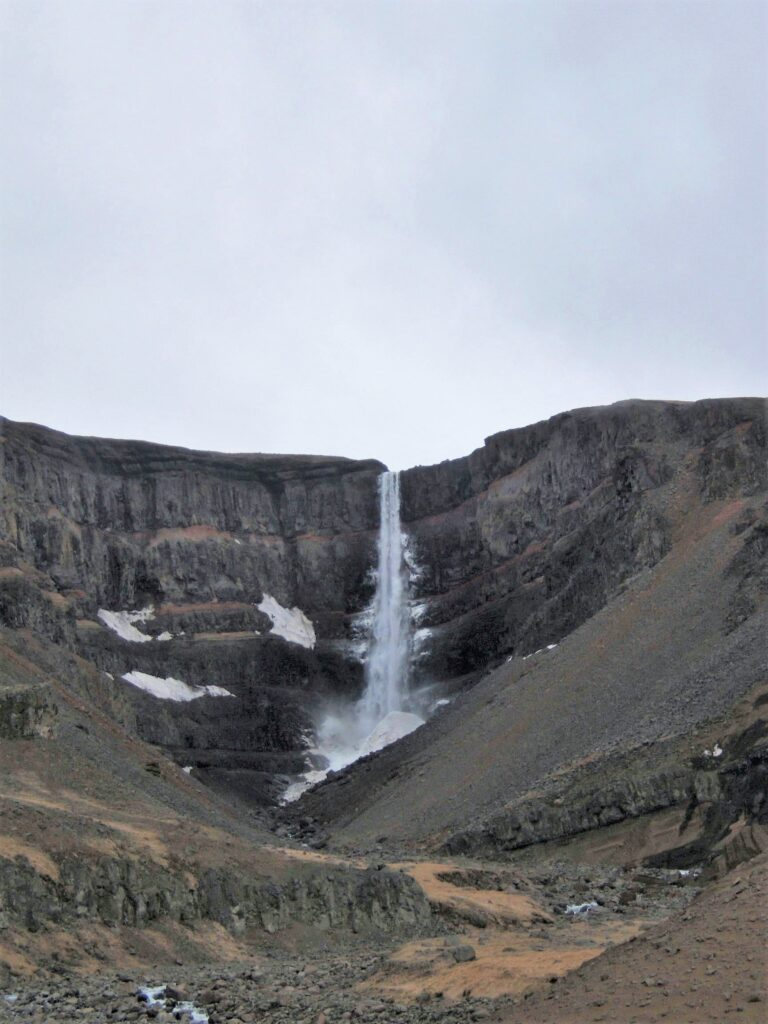 Hengifoss, thundering down a sheer cliff