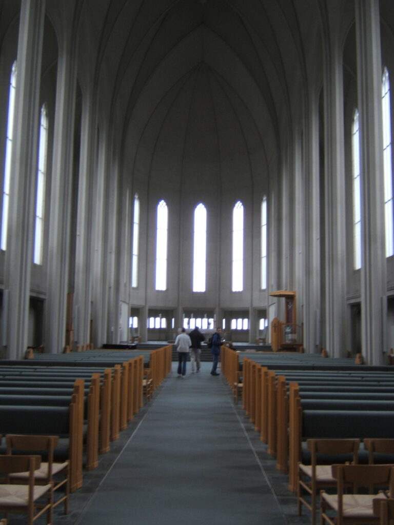 The inside of Hallgrimskirkja