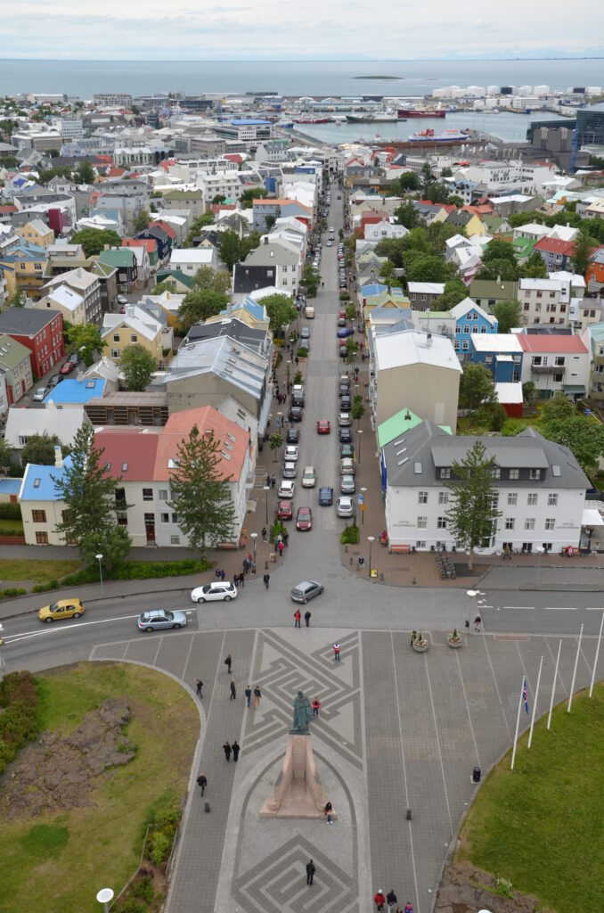View from Hallgrimskirkja on the front side