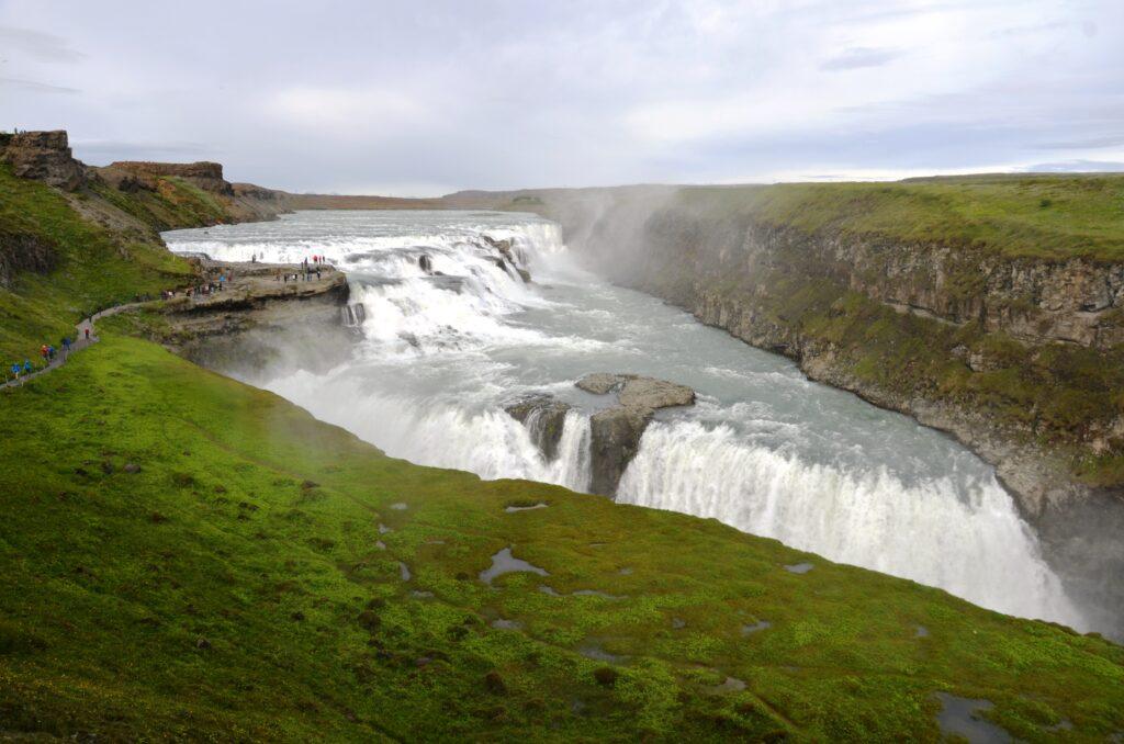 Gulfoss, waterfalls in Iceland