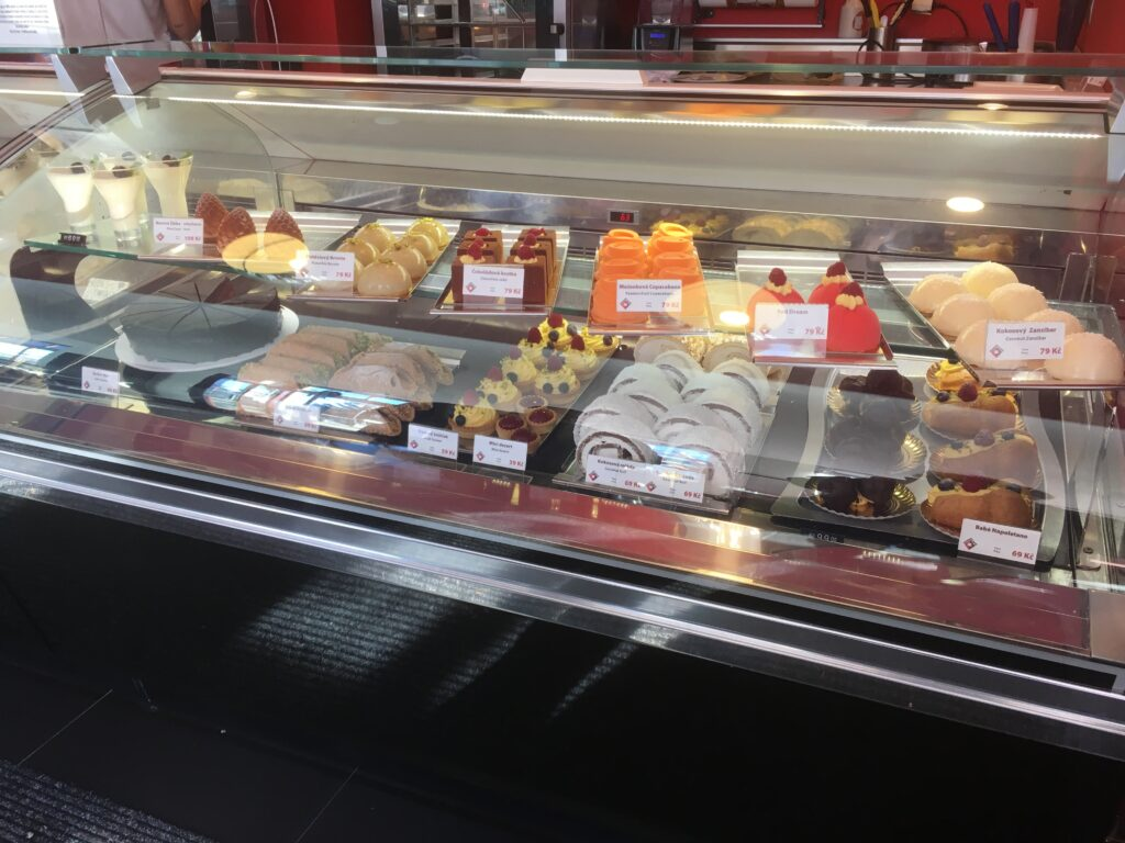 The showcase at Marina Cafe , with homemade Italian ice cream