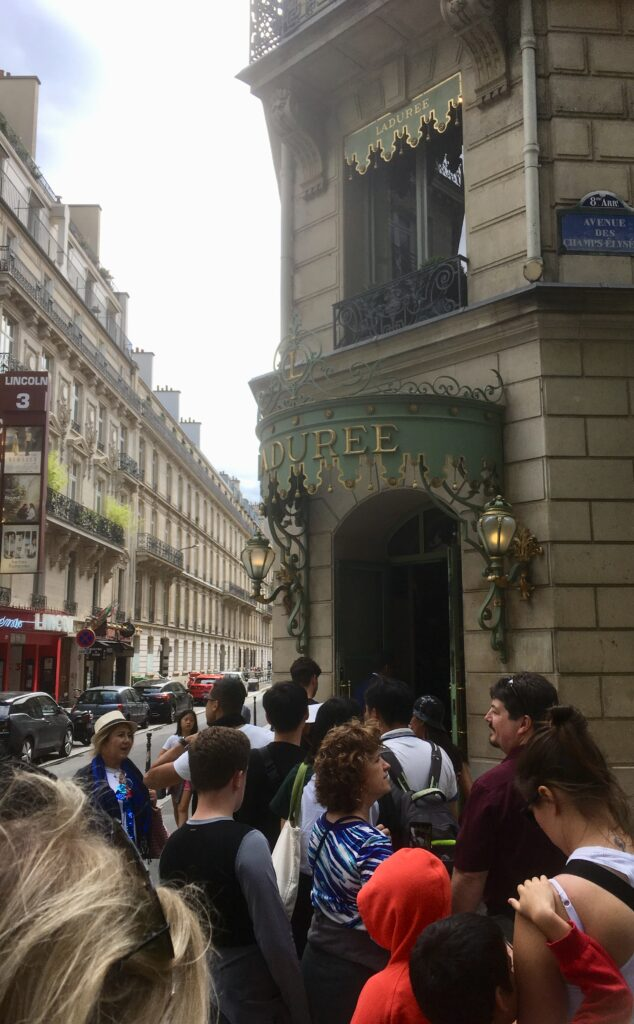 The long line at Laduree
