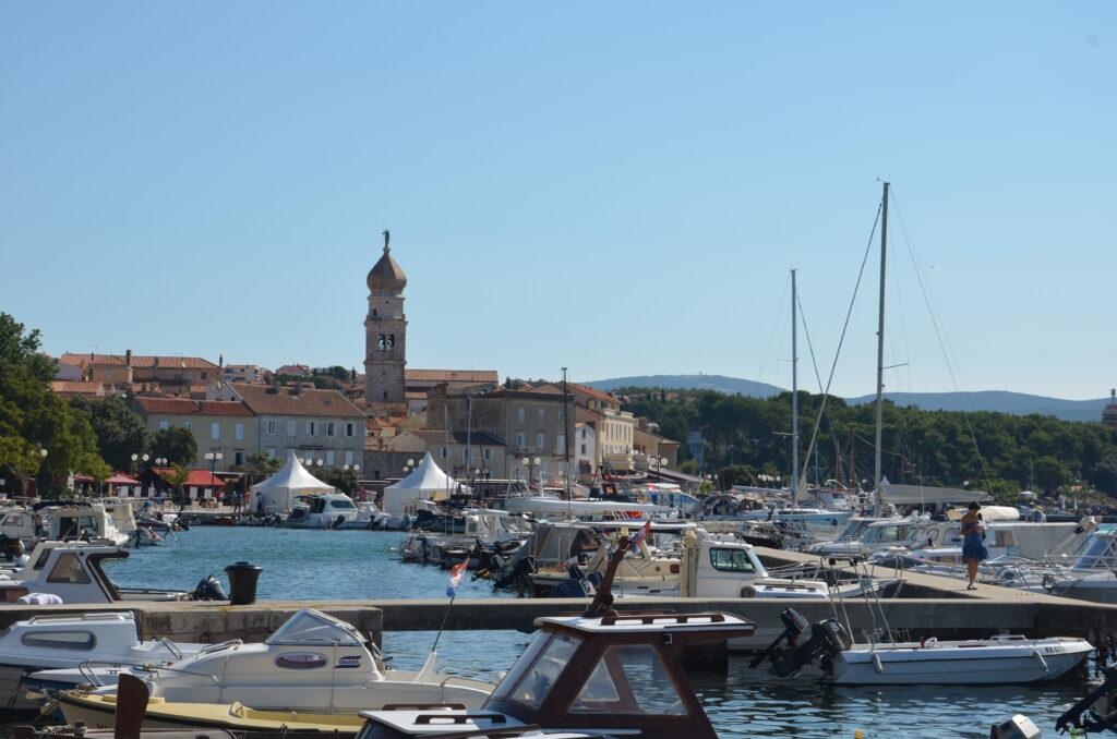 Krk town, the harbor