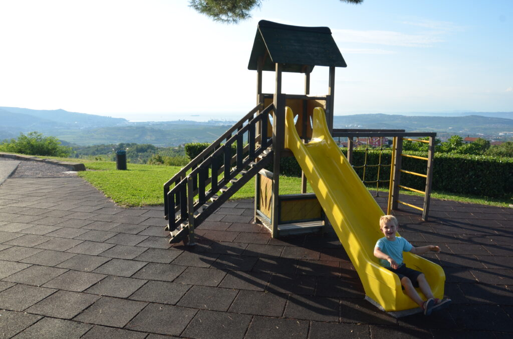 Playground near a smal road in Slovenia
