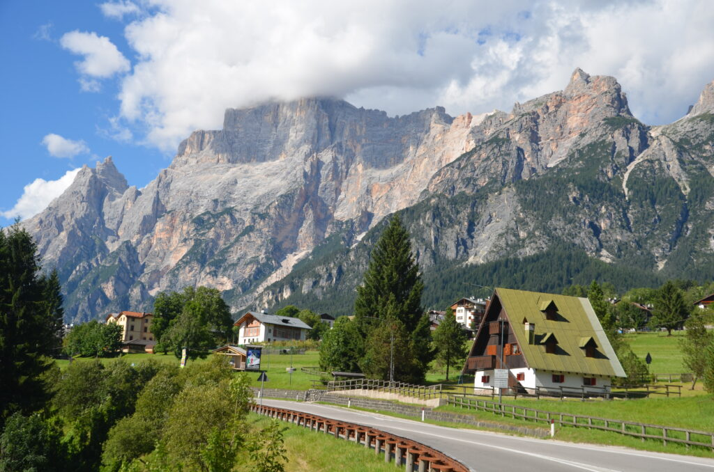 Cute houses in the Dolomites