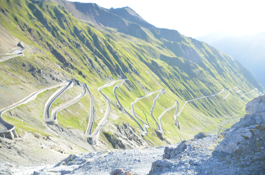 Stelvio Pass, as seen from above