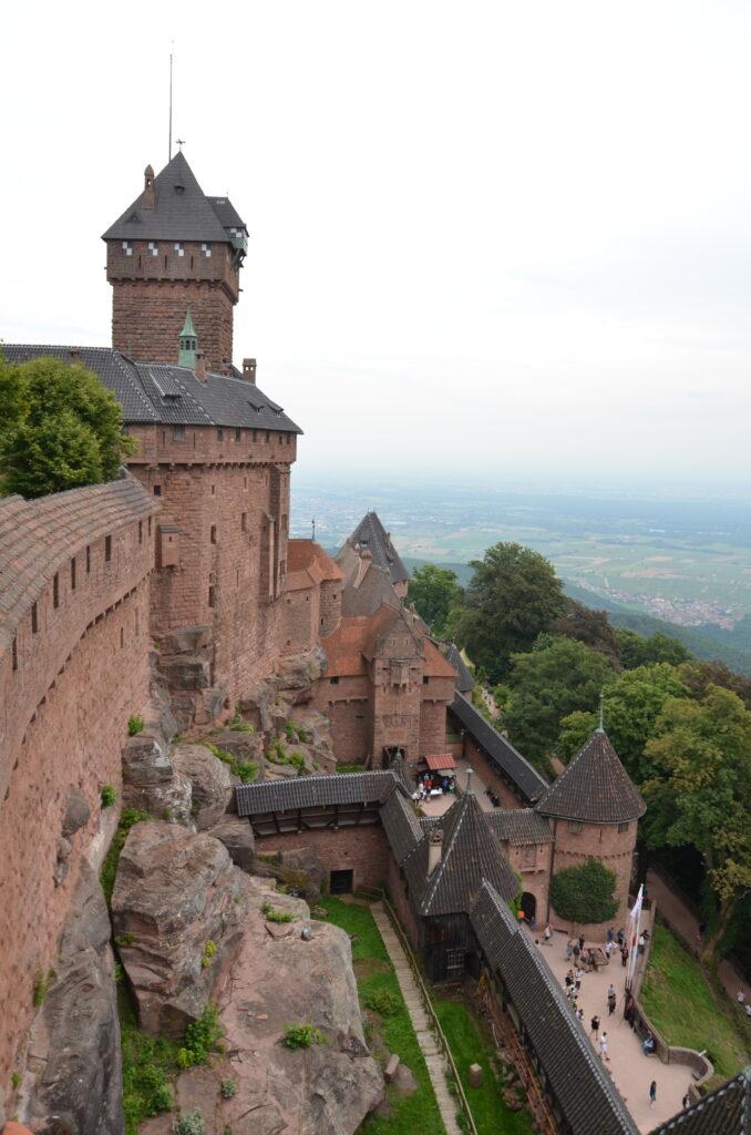 Part of the castle Haut-Koenigsbourg