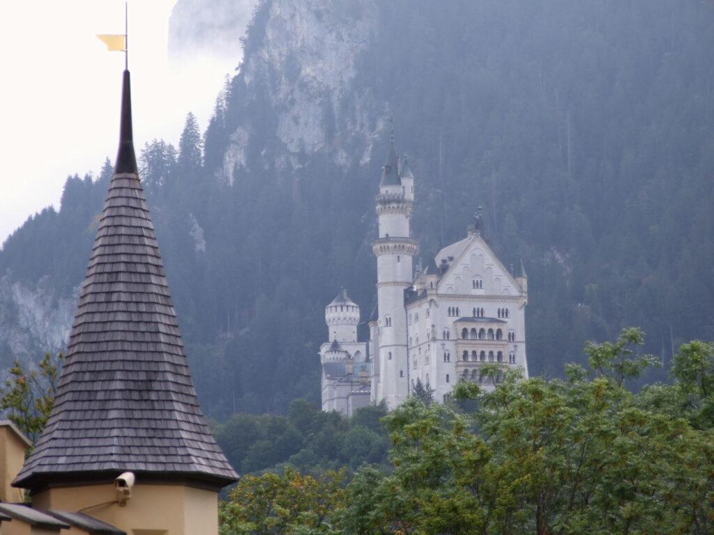 Neuschwanstein as seen from Hohenschwangau