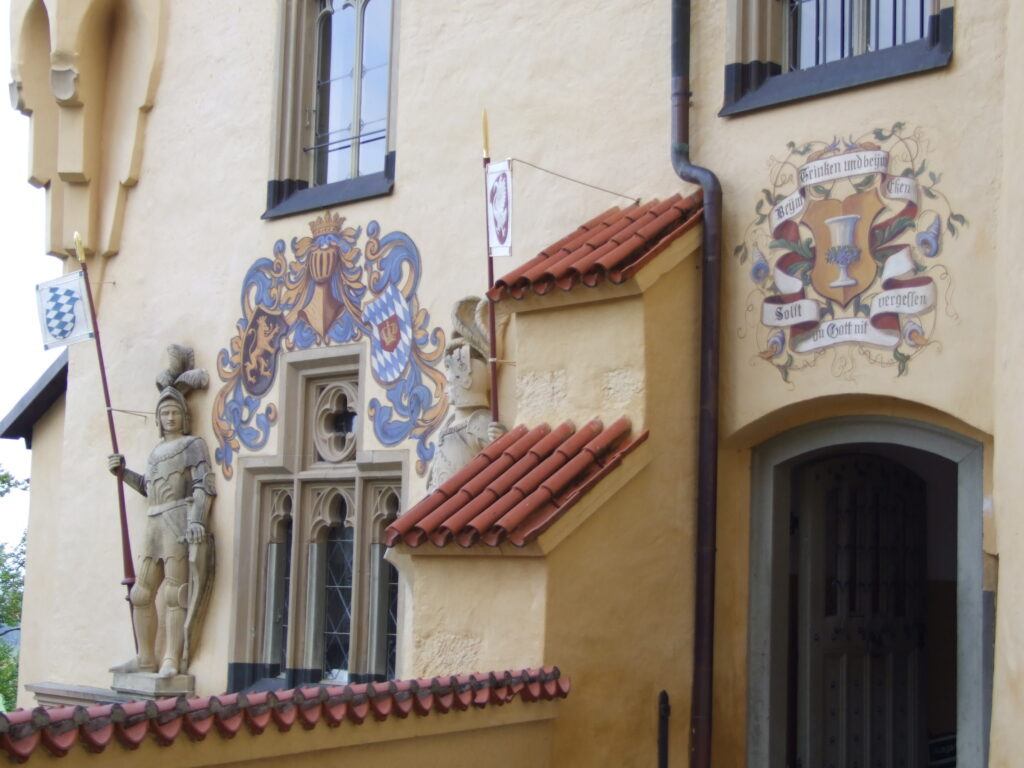 Some of the decoration on the castle